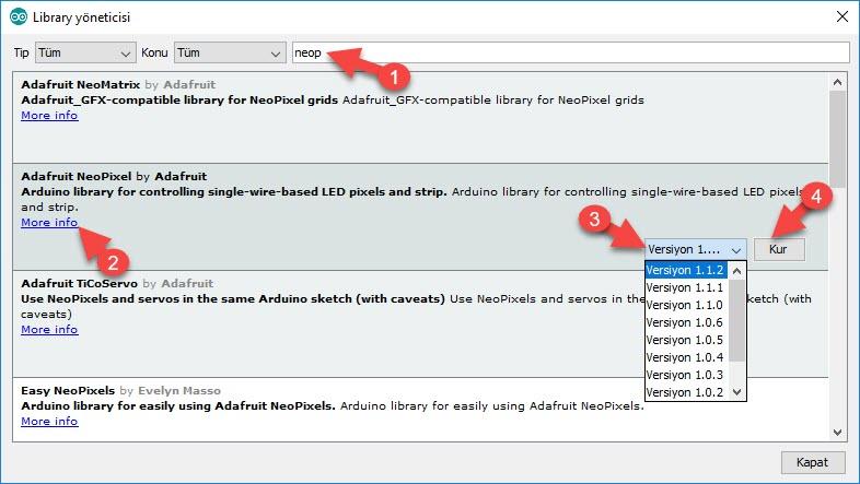 Arduino ile Adreslenebilir Şerit (Neopixel) Led Kodlamak